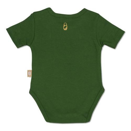 Babyushka Organic Short Sleeve Onesie Green