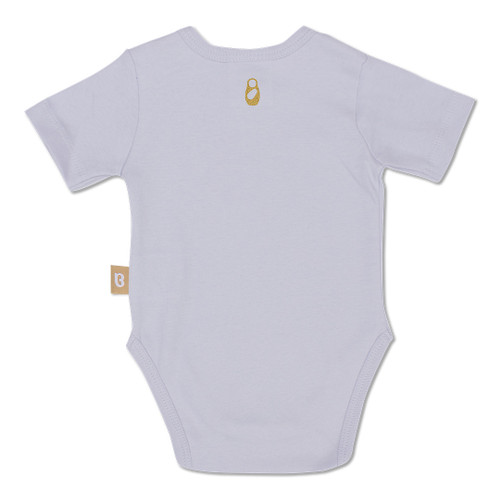 Babyushka Organic Short Sleeve Onesie Grey