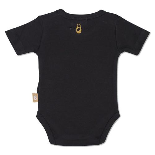 Babyushka Organic Short Sleeve Onesie Black