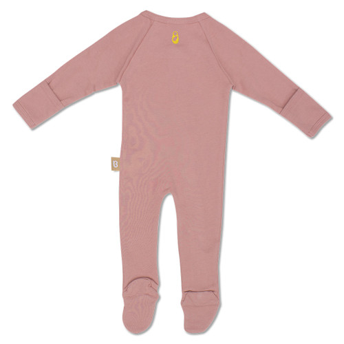 Babyushka Organic Long Sleeve ZipJump suit Mauve