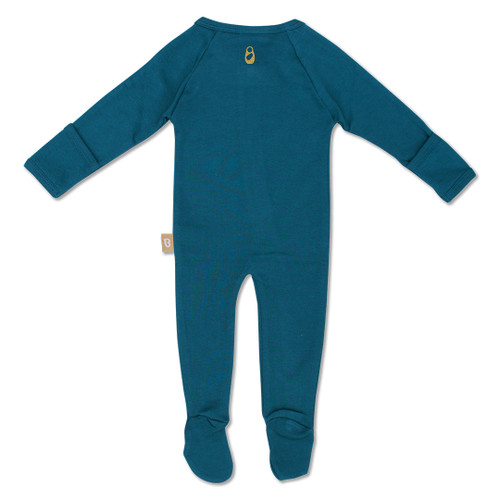 Babyushka Organic Long Sleeve ZipJump suit Blue