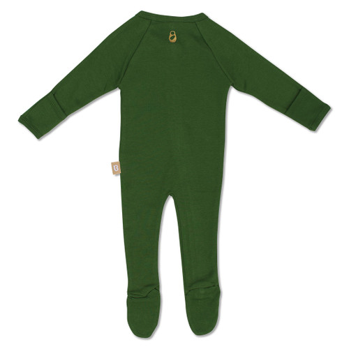 Babyushka Organic Long Sleve ZipJump suit Green
