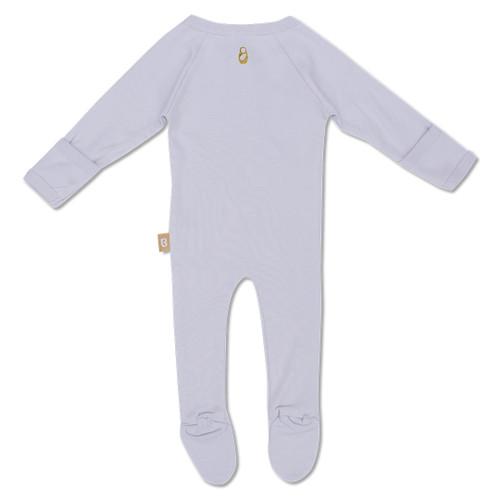 Babyushka Organic Long Sleeve ZipJump suit Grey