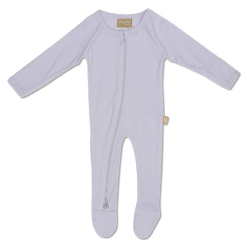 Babyushka Organic Long Sleeve ZipJump suit Grey