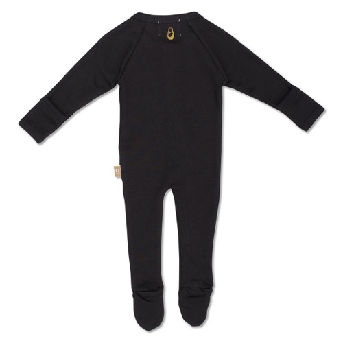 Babyushka Organic Long Sleeve ZipJump suit Black