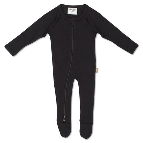 Babyushka Organic Long Sleeve ZipJump suit Black