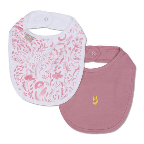 Babyushka Organic Bibs 2pk Pink
