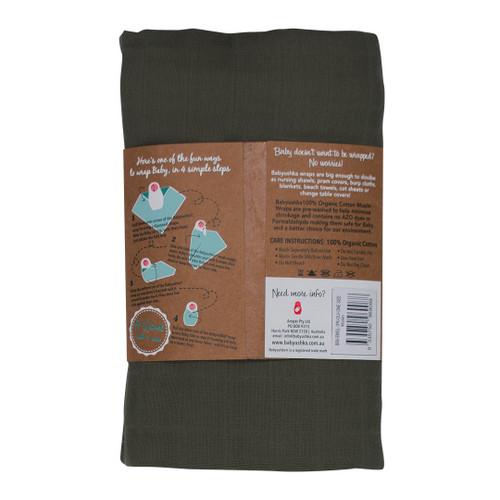 Babyushka Organic Muslin Wrap Olive