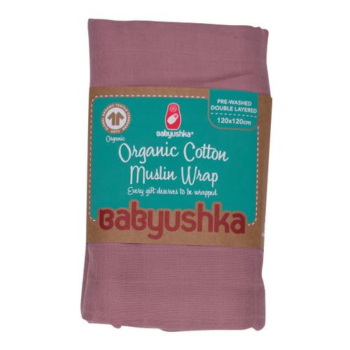 Babyushka Organic Muslin Wrap Mauve