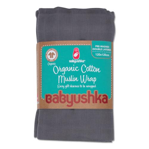 Babyushka Organic Muslin Wrap Charcoal