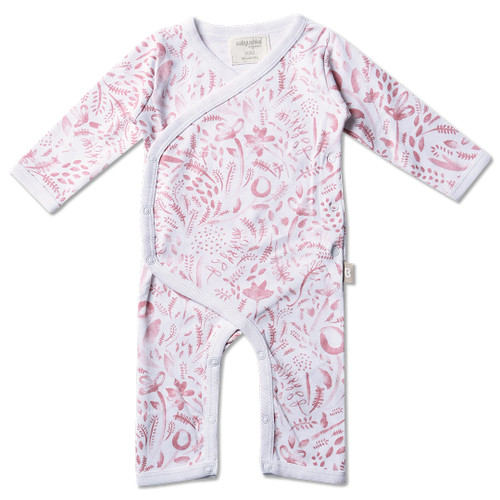 Babyushka Organic 2-Pack Long Sleeve Jumpsuit Pink