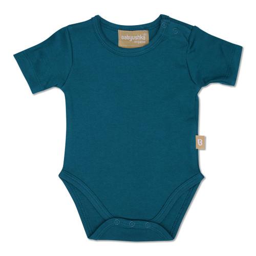 Babyushka Organic 2-Pack Short Sleeve Onesie Blue