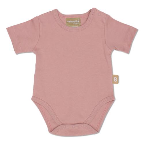 Babyushka Organic 2-Pack Short Sleeve Onesie Pink