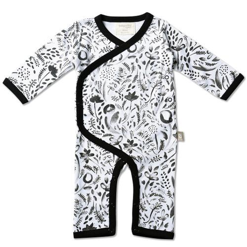 Babyushka Organic Long Sleeve Kimono Black