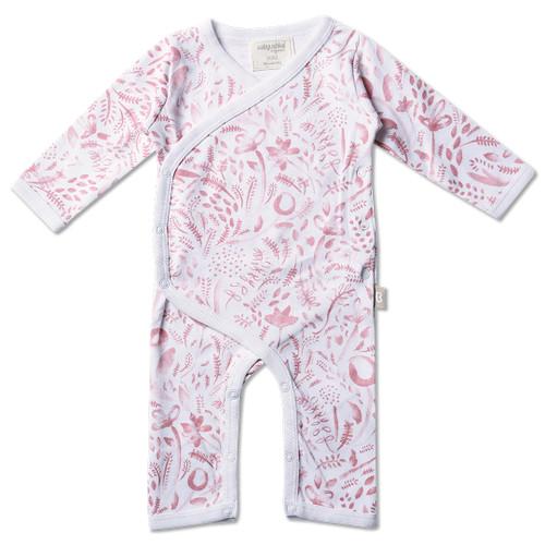 Babyushka Organic Long Sleeve Kimono Pink