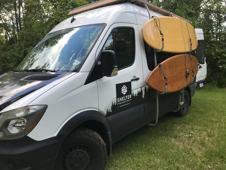 Side Ladder With Surf/ Kayak Hooks