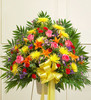 Heartfelt Sympathies Bright Standing Basket Florist Long Island NY