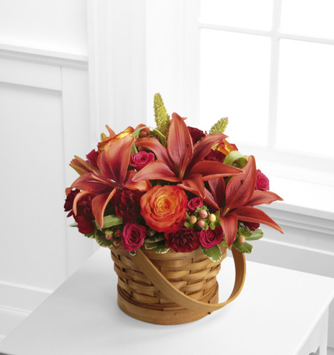 Abundant Harvest Basket Long Island Flower Delivery