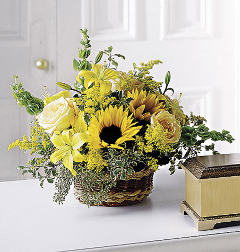 Flowing Garden Basket Long Island Flower Delivery