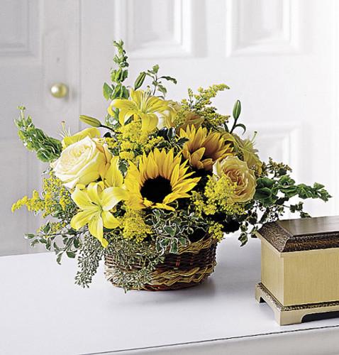 Flowing Garden Basket Long Island Flower Delivery