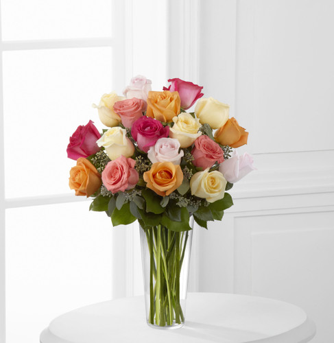 Graceful Grandeur Rose Bouquet (18 Roses) Long Island Flower Delivery