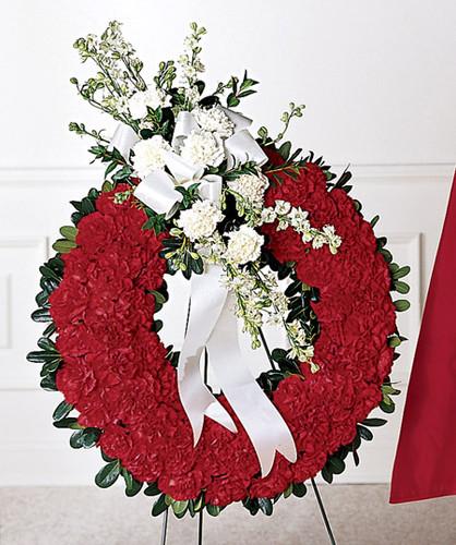 Patriotic Tribute Wreath Flowers Long Island