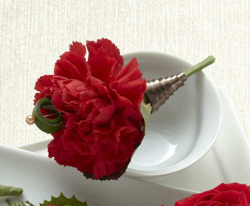 Red Carnation Boutonniere Long Island Florist