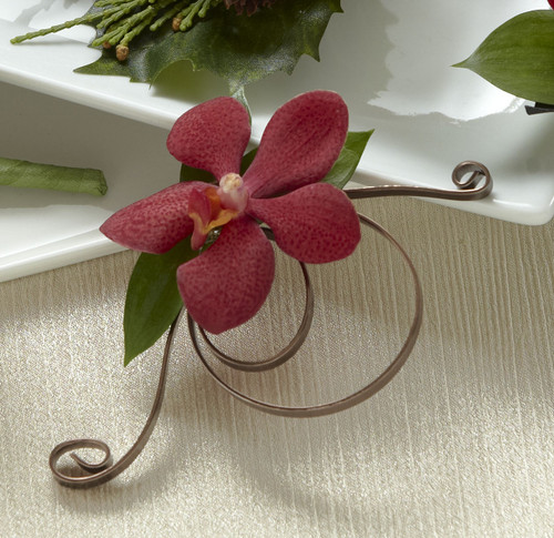 Red Mokara Boutonniere Florist Long Island NY