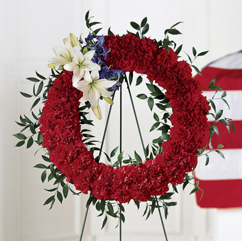 To Honor One's Country Wreath Florist Long Island NY