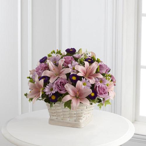 The Loving Sympathy Basket Long Island Flower Delivery
