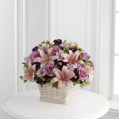 The Loving Sympathy Basket Long Island Flower Delivery