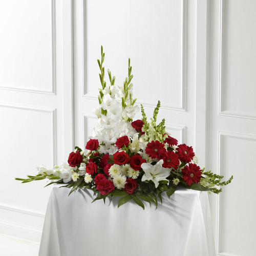 The Crimson & White Arrangement Long Island Florist