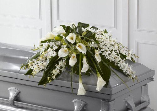 The Angel Wings Casket Spray Flowers Long Island