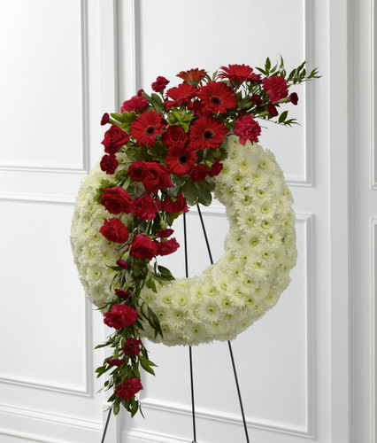 The Graceful Tribute Wreath Long Island Flower Delivery