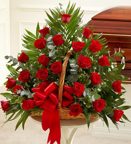 Sincerest Sympathies Fireside Basket - Red Florist Long Island NY