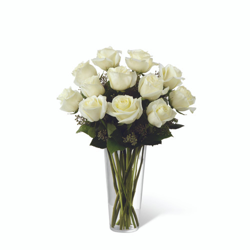 Dozen White Roses Long Island Flower Delivery