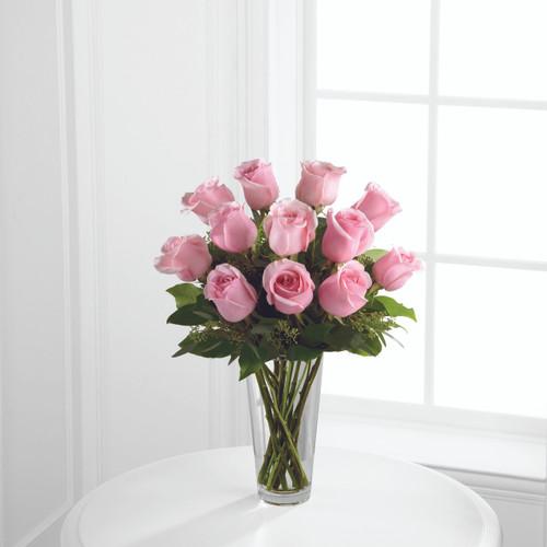 Dozen Pink Roses Long Island Florist