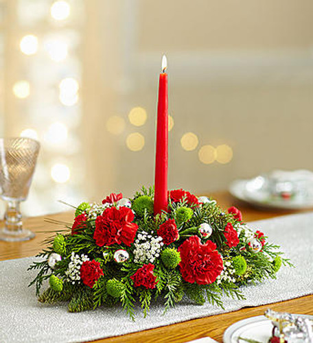 Season's Greetings Centerpiece Florist Long Island NY