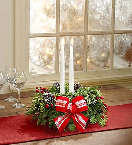 Wondrous Holiday Centerpiece Long Island Flower Delivery