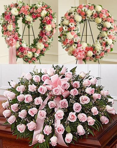 Pastel Funeral Package Long Island Florist