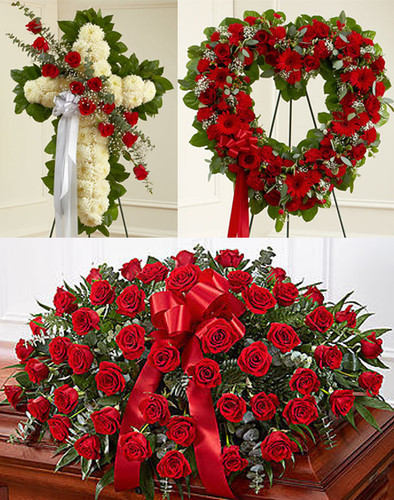 Premium Red Funeral Package  Florist Long Island NY