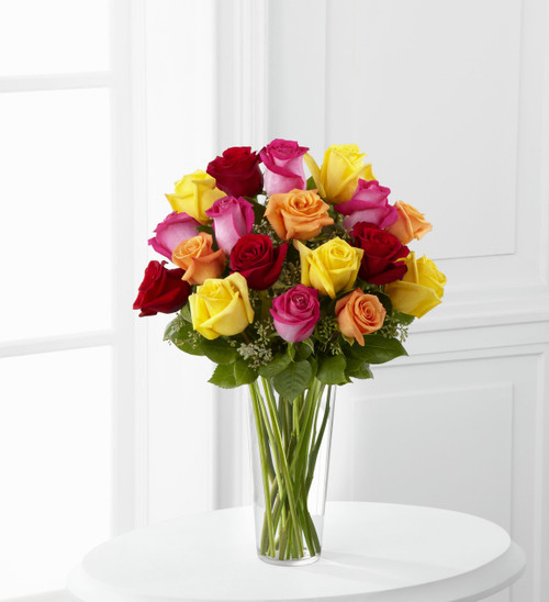 Bright Spark Rose Bouquet Long Island Flower Delivery