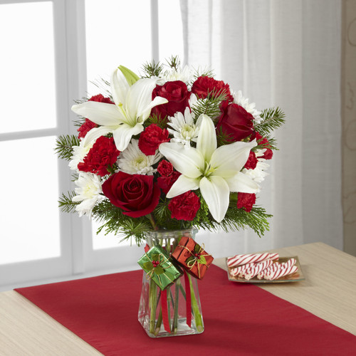 Joyous Holiday Bouquet Long Island Flower Delivery