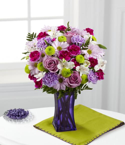 Purple Pop Bouquet Flowers Long Island