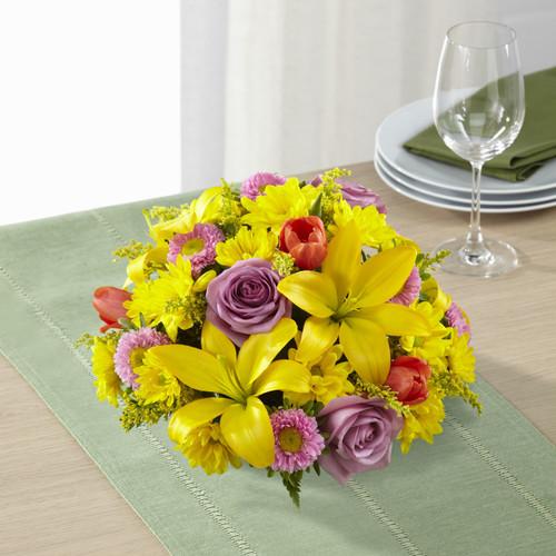Spring Sunshine Centerpiece Florist Long Island NY