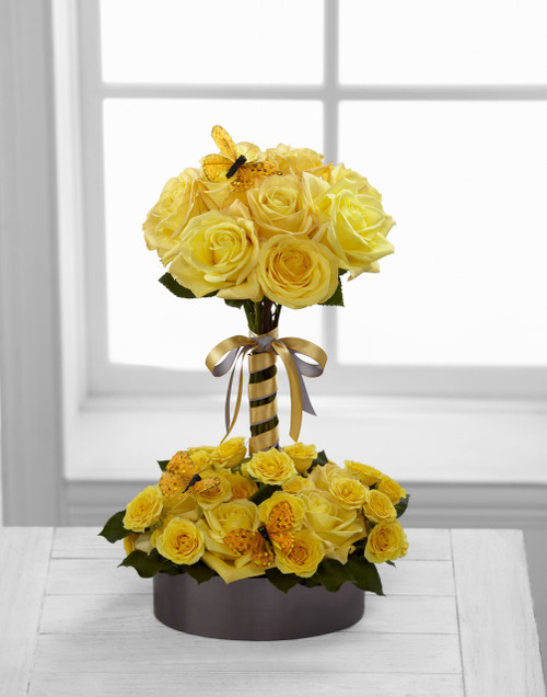 Sun Blushed Rose Bouquet Long Island Flower Delivery