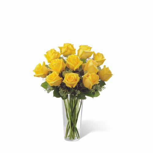 Dozen Yellow Roses Flowers Long Island
