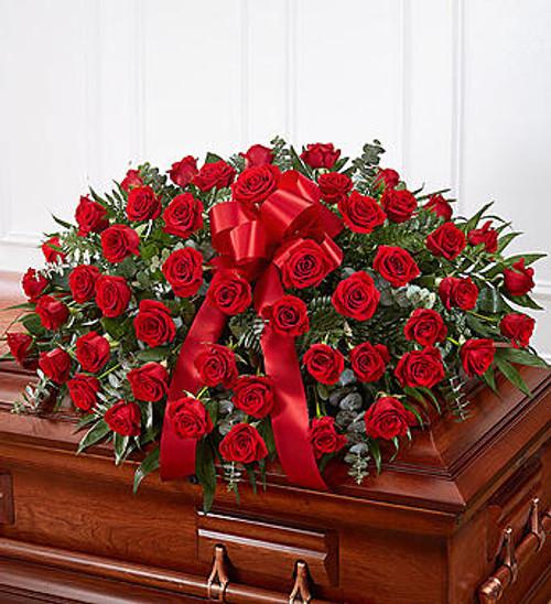 Red Rose Casket Spray Long Island Flower Delivery