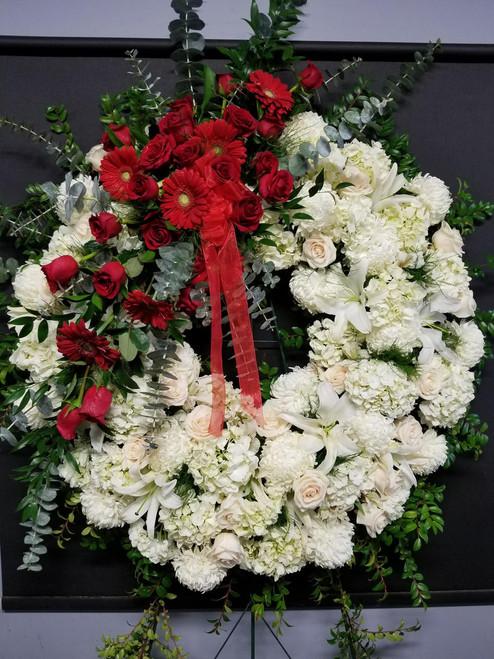 Standing Wreath with Overlay Long Island Florist