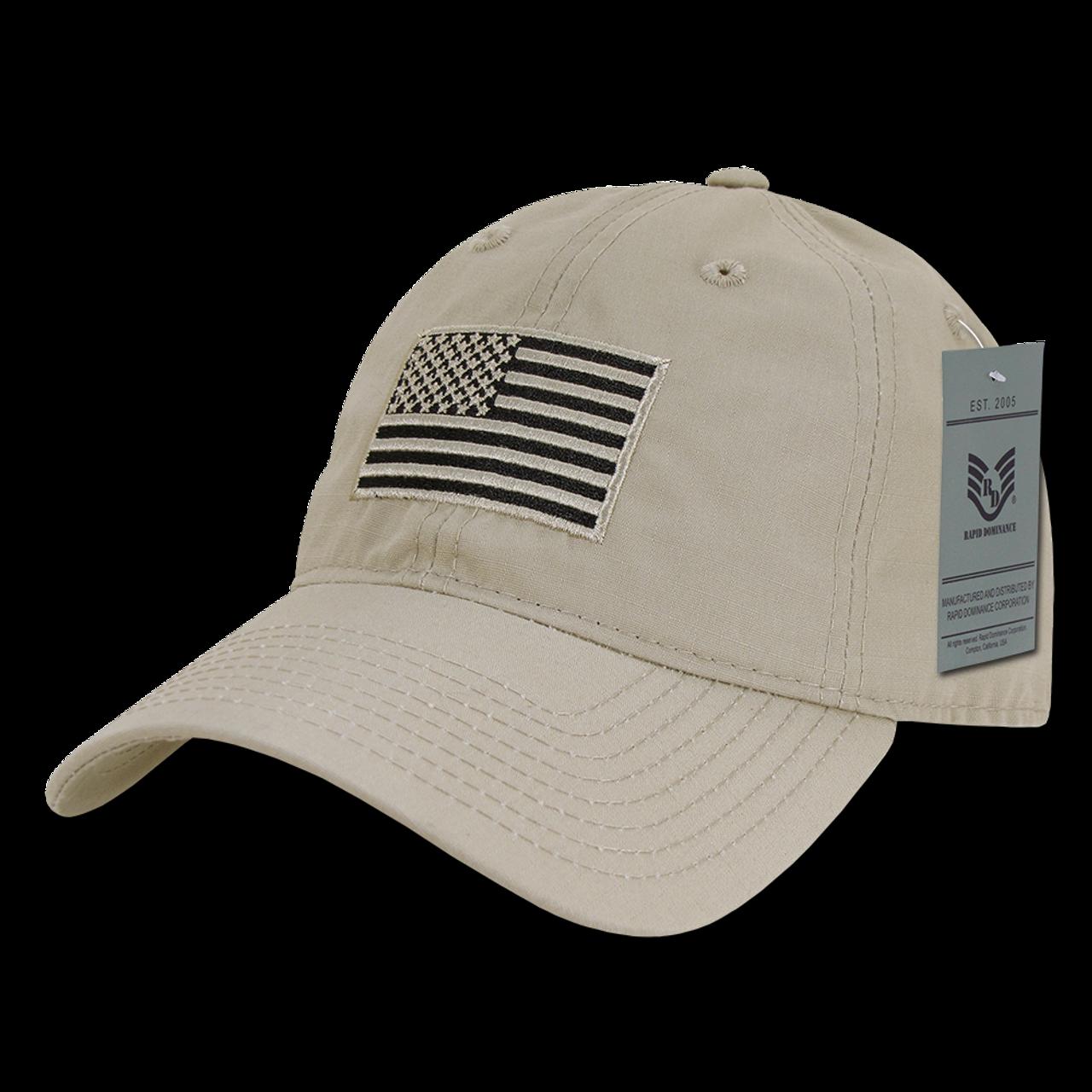 7a29400098e12 ... S73 - USA Flag Cap - Relaxed Ripstop - Cotton - Khaki ...